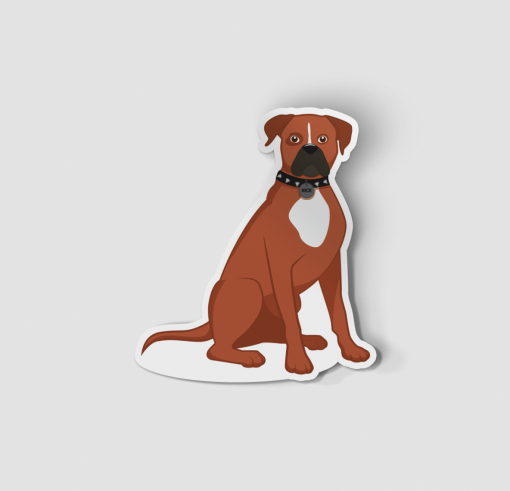 2-Inch Die-Cut Boxer Sticker