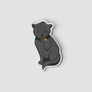 2-Inch Die-Cut Black Cat Sticker