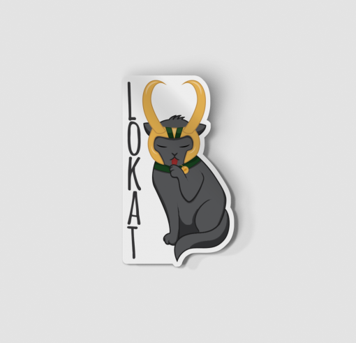 2-Inch Die Cut Black Cat Loki Sticker