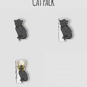 Cat, Purfect, Lokat Sticker Pack