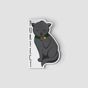 2-Inch Die-Cut Black Cat Purfect Sticker