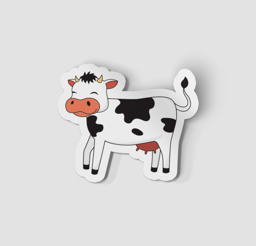 2-Inch Die-Cut Cow Sticker