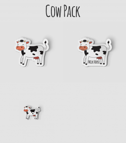 Cow, Milk Horse Sticker Pack