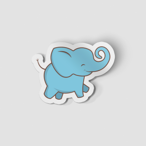 2-Inch Die-Cut Elephant Sticker