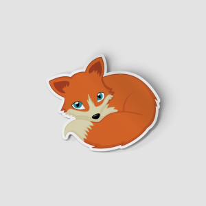 2-Inch Die-Cut Fox Sticker