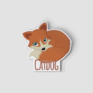 2-Inch Die-Cut Fox Catdog Sticker