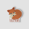 2-Inch Die-Cut Fox Faux News Sticker
