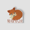 2-Inch Die-Cut Fox No Fox To Give Sticker