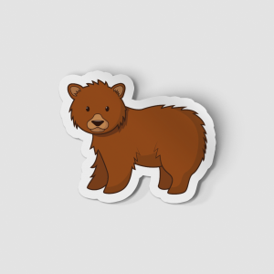 2-Inch Die-Cut Grizzly Bear Sticker