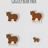 Grizzly Bear, Danger Floof, Danger Nope Sticker Pack