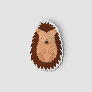 2-Inch Die-Cut Hedgehog Sticker