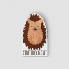 2-Inch Die-Cut Hedgehog Ridiculous Cat Sticker