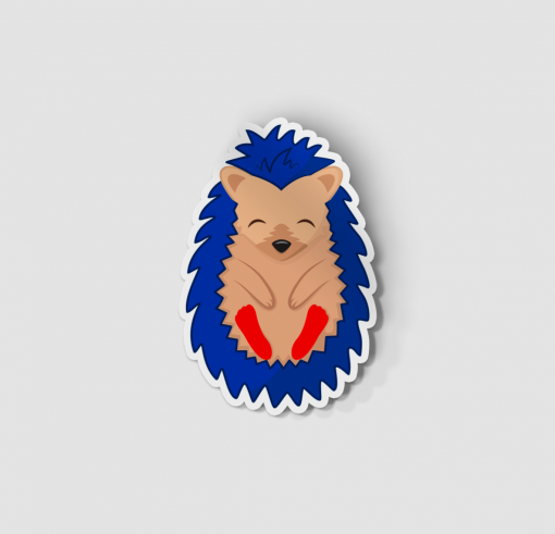 2-Inch Die-Cut Hedgehog Sonic Sticker
