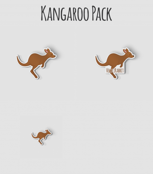 Kangaroo, VelociRabbit Sticker Pack
