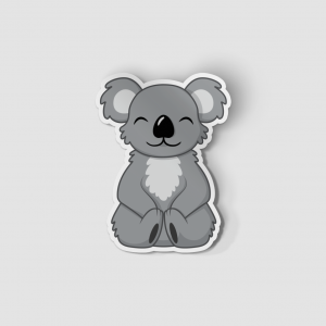 2-Inch Die-Cut Koala Sticker
