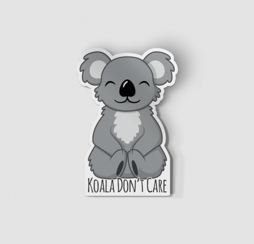 2-Inch Die-Cut Koala Don't Care Sticker