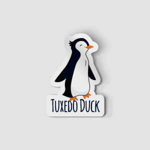 2-Inch Die-Cut Penguin Tuxedo Duck Sticker