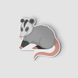 2-Inch Die-Cut Possum Sticker