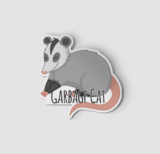 2-Inch Die-Cut Possum Garbage Cat Sticker