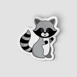 2-Inch Die-Cut Raccoon Sticker