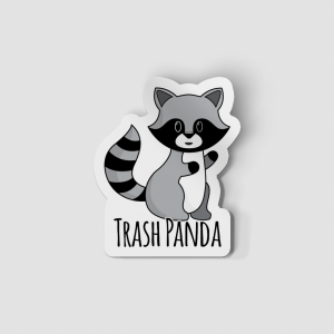 2-Inch Die-Cut Raccoon Trash Panda Sticker