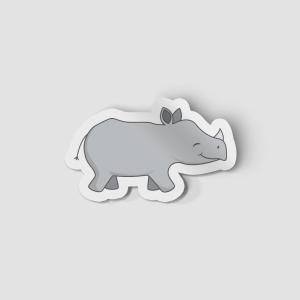 2-Inch Die-Cut Rhino Sticker