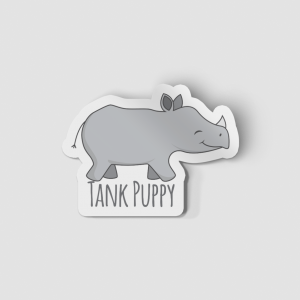 2-Inch Die-Cut Rhino Tank Puppy Sticker