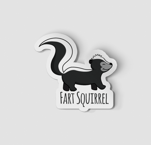 2-Inch Die-Cut Skunk Fart Squirrel Sticker