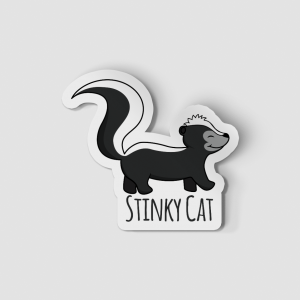 2-Inch Die-Cut Skunk Stinky Cat Sticker