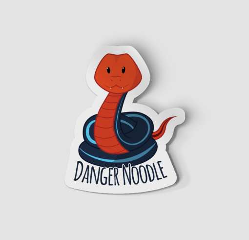 2-Inch Die-Cut Snake Danger Noodle Sticker