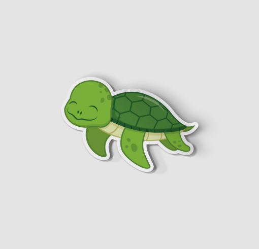 2-Inch Die-Cut Turtle Sticker
