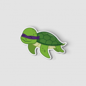2-Inch Die-Cut Turtle Donatello Sticker
