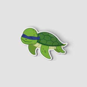 2-Inch Die-Cut Turtle Leonardo Sticker