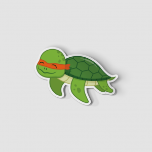 2-Inch Die-Cut Turtle Michaelangelo Sticker