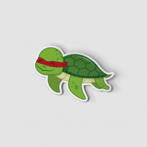 2-Inch Die-Cut Turtle Raphael Sticker