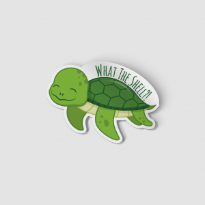 2-Inch Die-Cut Turtle What the Shell Sticker