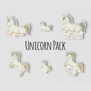 "2"" Unicorn Sticker Pack"