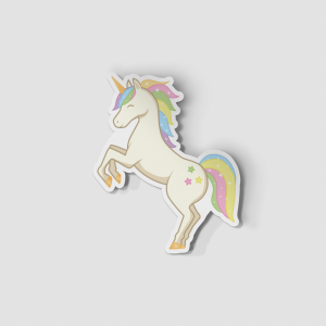 2-Inch Die-Cut Rearing Unicorn Sticker